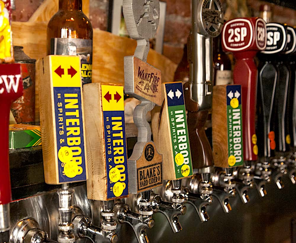 Interboro Spirits and Ales on tap