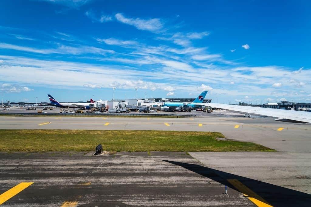 Runways at JFK airport