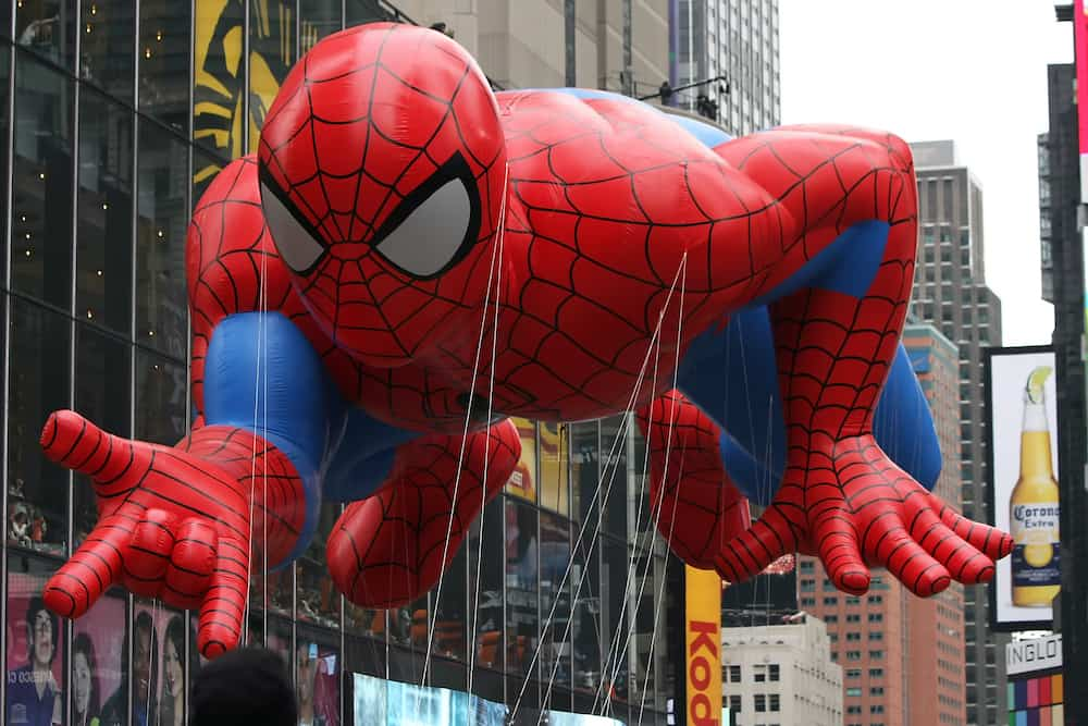 Spiderman Balloon in the Macy's Thanksgiving Day Parade