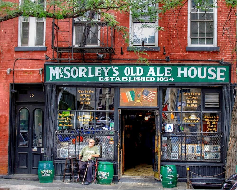 McSorley's Old Ale House is one of the oldest bars in NYC and one of the fun things to do in NTC at night.