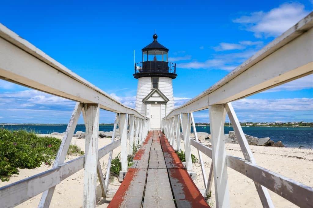 Brant Point Lighthouse on Nantucket Island, Massachusetts.