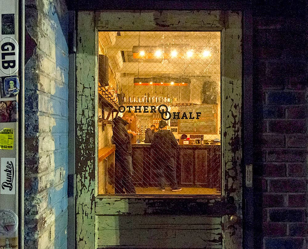The unassuming entrance to Other Half Brewing Company in Brooklyn.