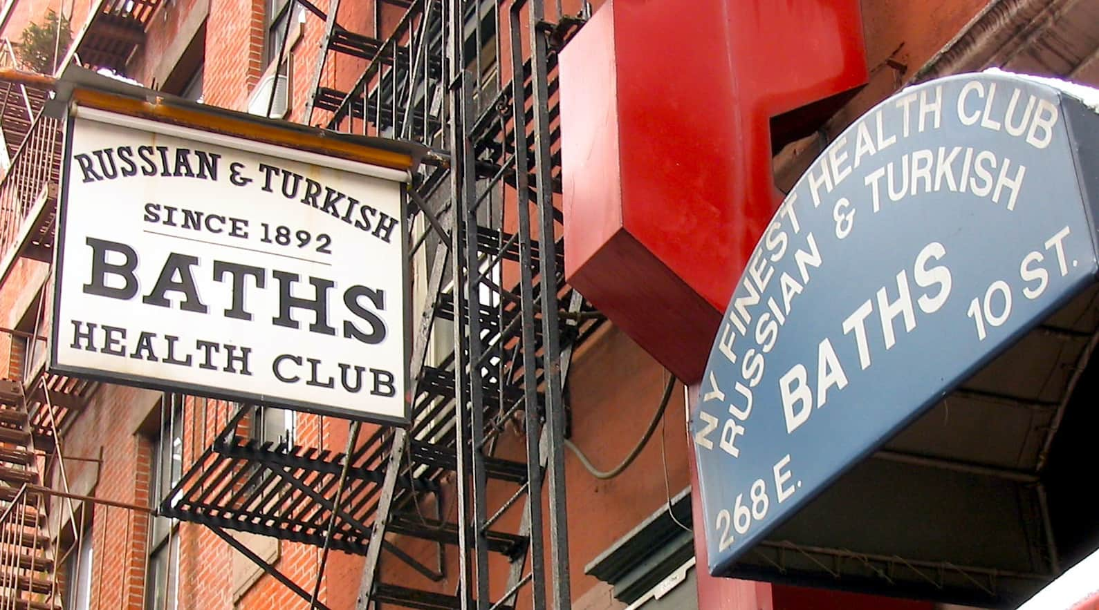 Sign for the Russian and Turkish Baths