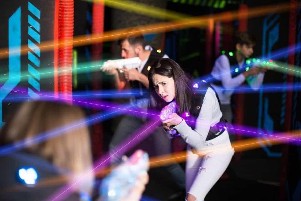 People playing laser tag.