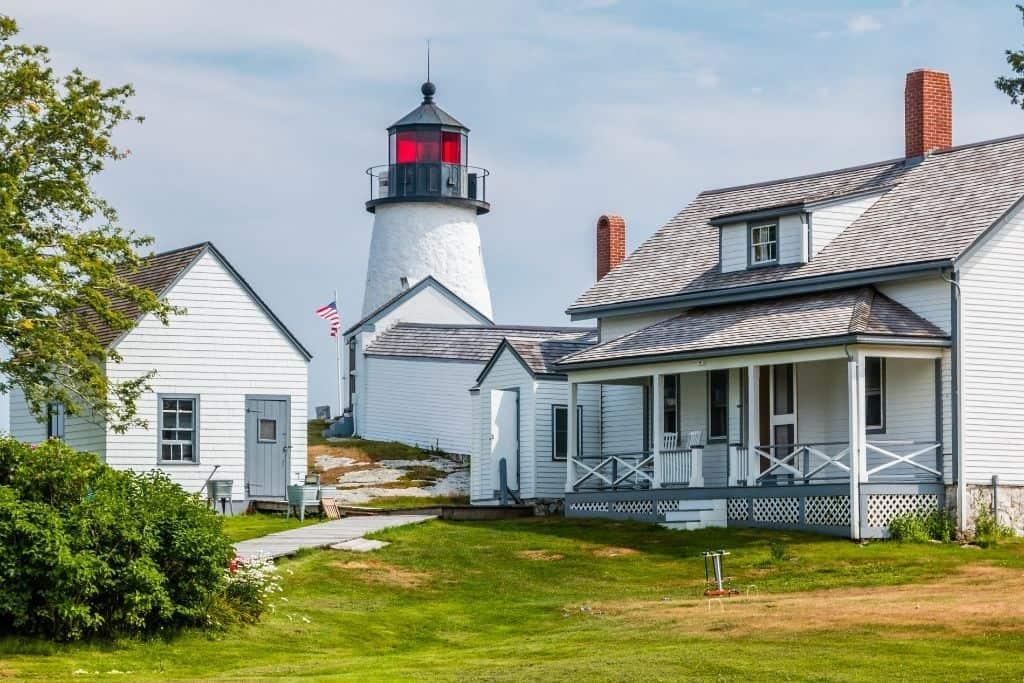 Burnt Island Lighthouse near Boothbay Harbor Maine