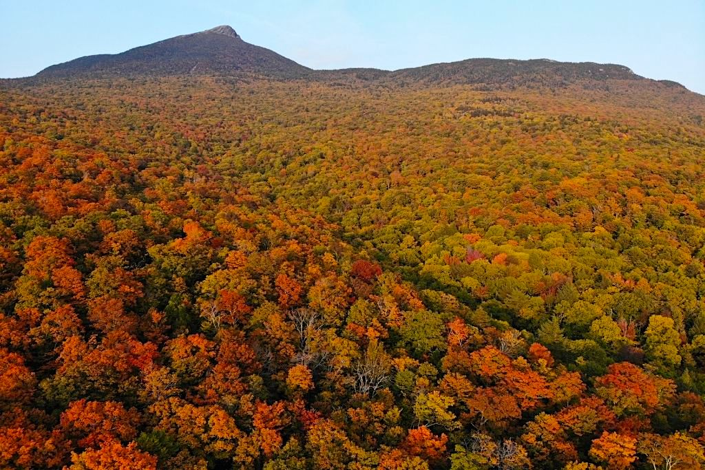 Camel's Hump is a mountain in Vermont that is loaded with stunning fall foliage
