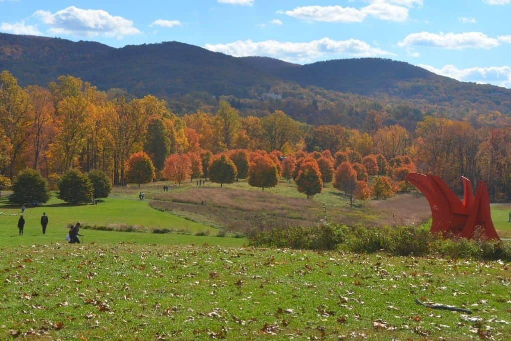 Fall at Storm King Art Center in New York.