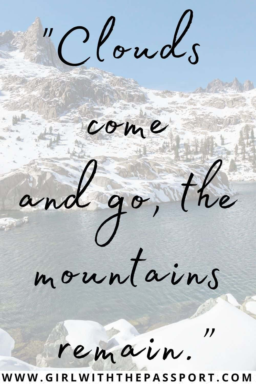 Best quotes about mountains and clouds