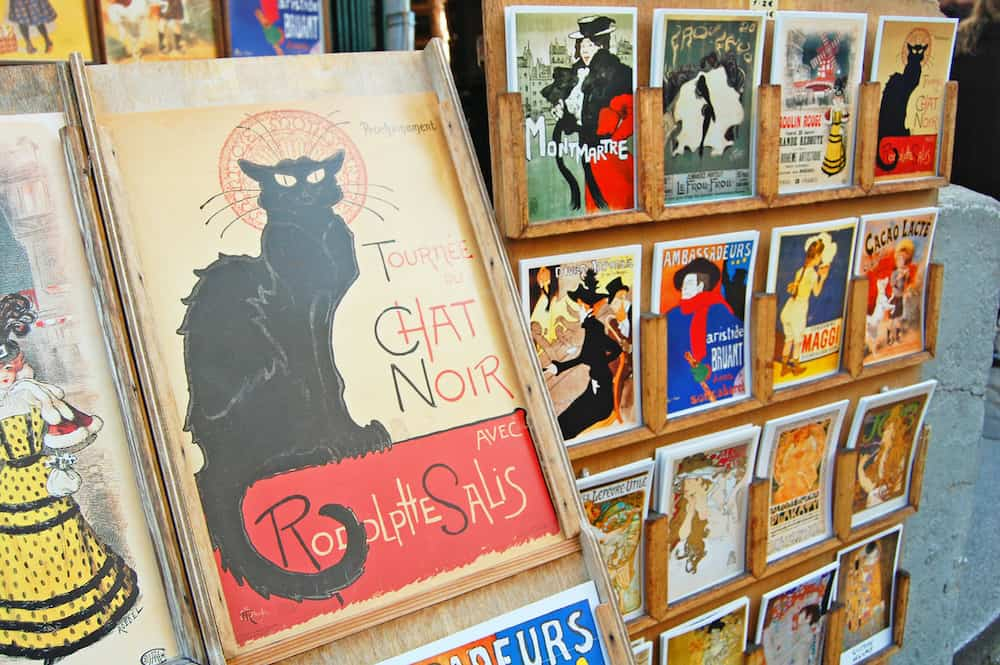The now immortal Le Chat Noir Poster for sale in a local shop in Paris.