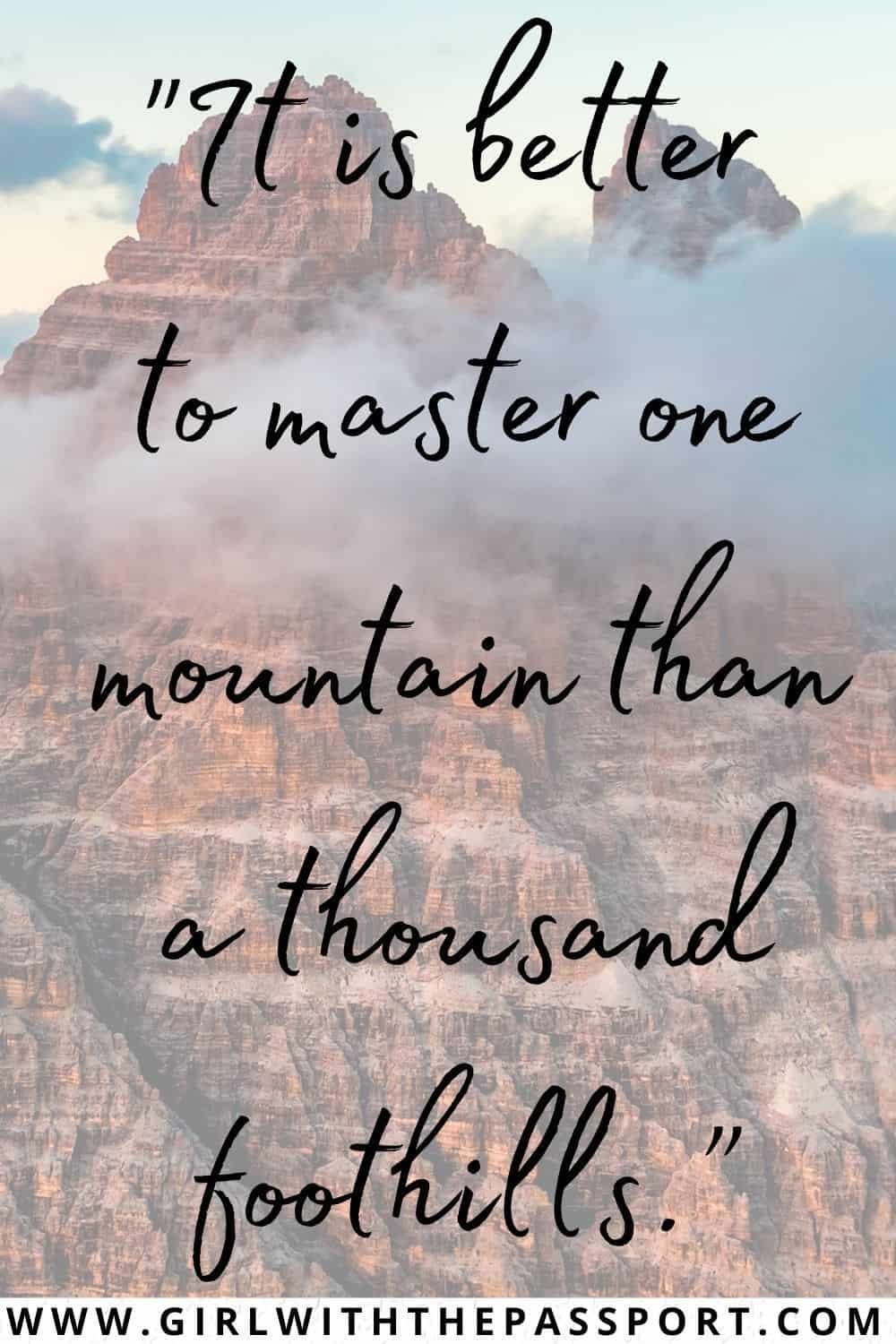 Short Mountain Quotes and Short Quotes on Mountains