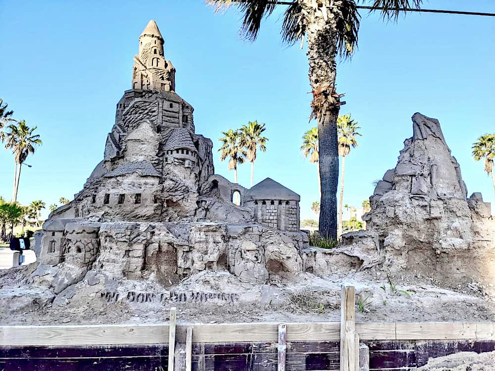Largest outdoor sand castle in the US at warm winter vacations usa