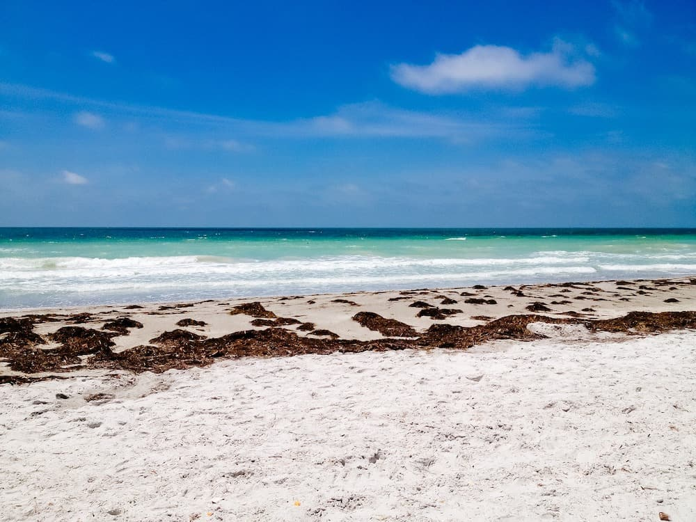 Pristine beaches of Hollywood Island Florida, one of the Best Warm Winter Vacations USA.