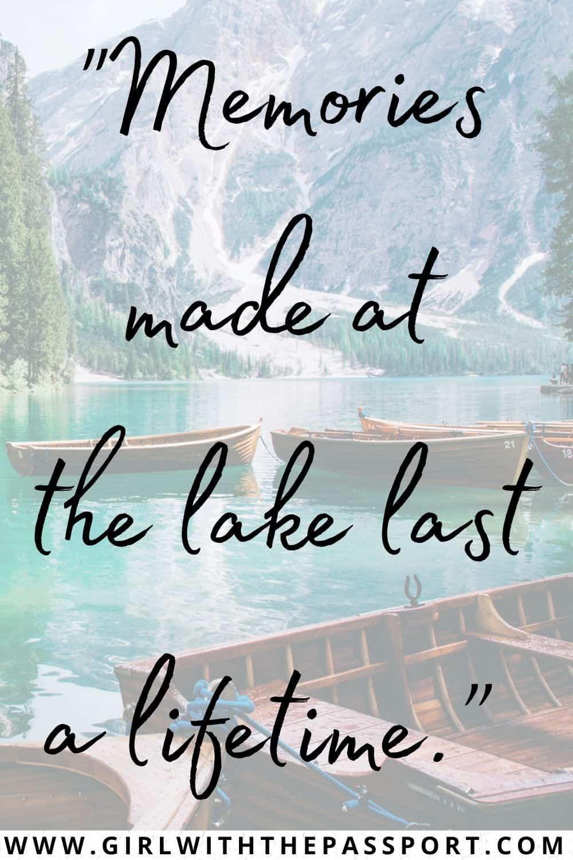 Best Lake Captions for Instagram