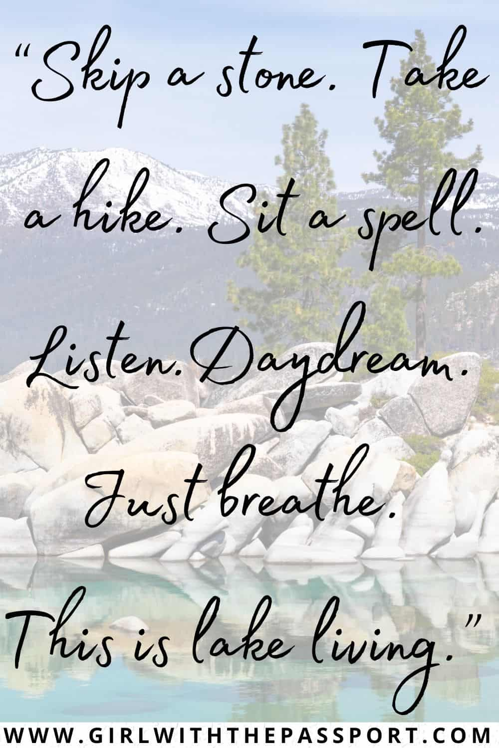 Best Lake Life Quotes