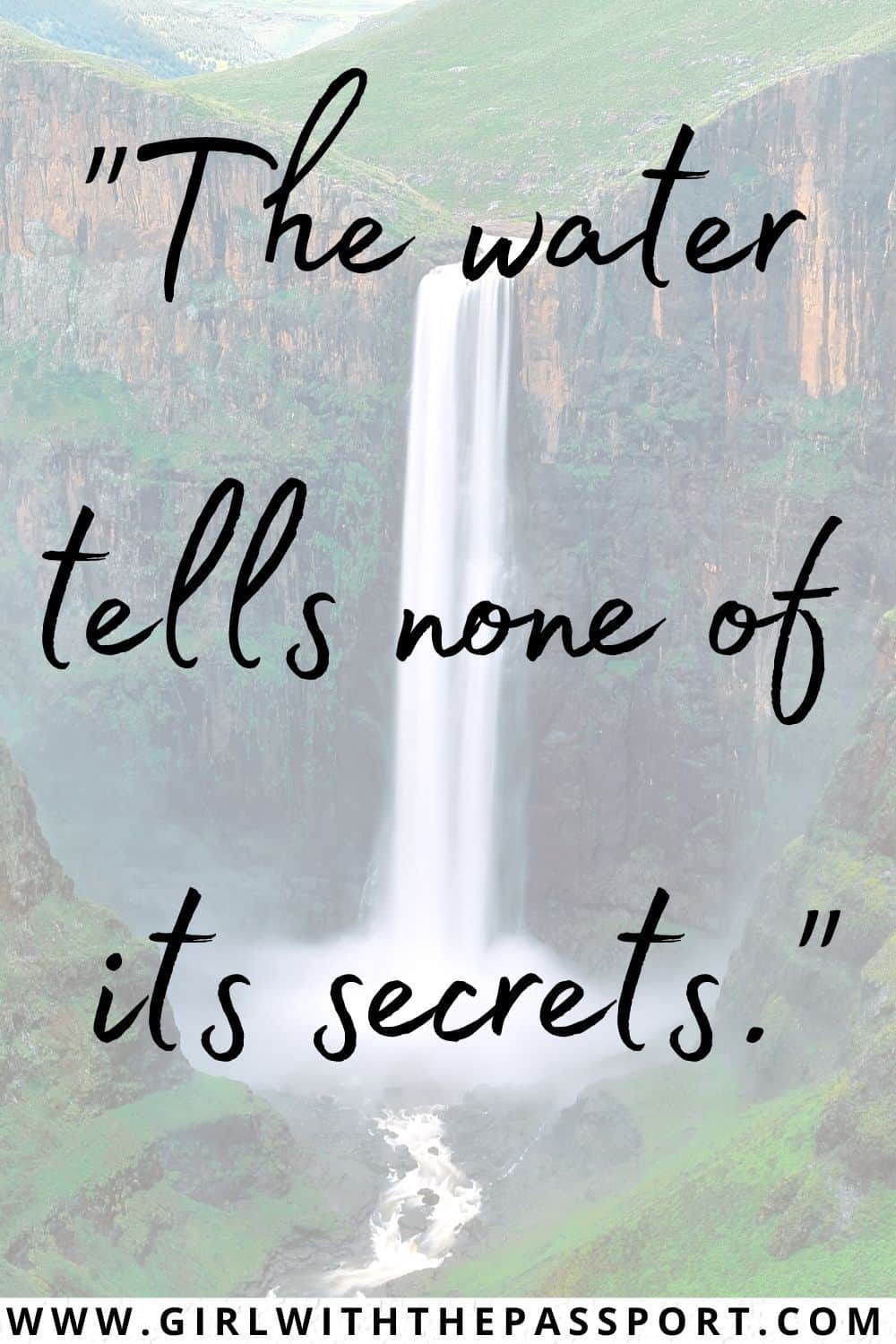 Best Short Quotes about Waterfalls and Waterfall Quotes