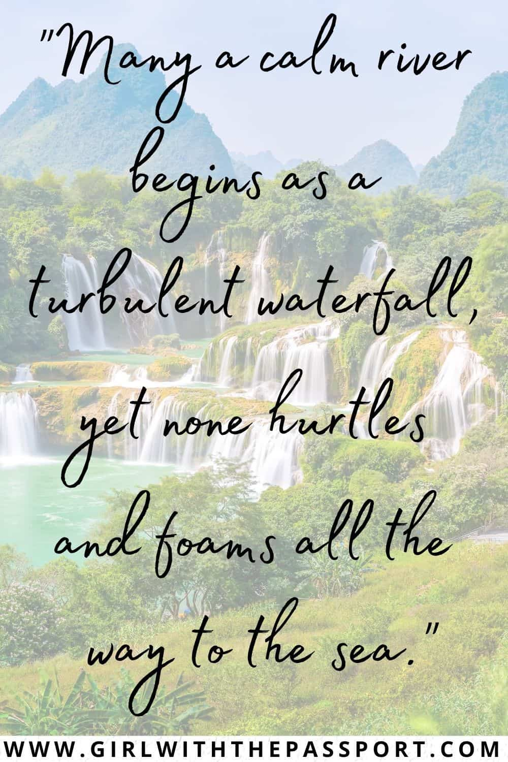 Inspiring Waterfall Quotes about Life