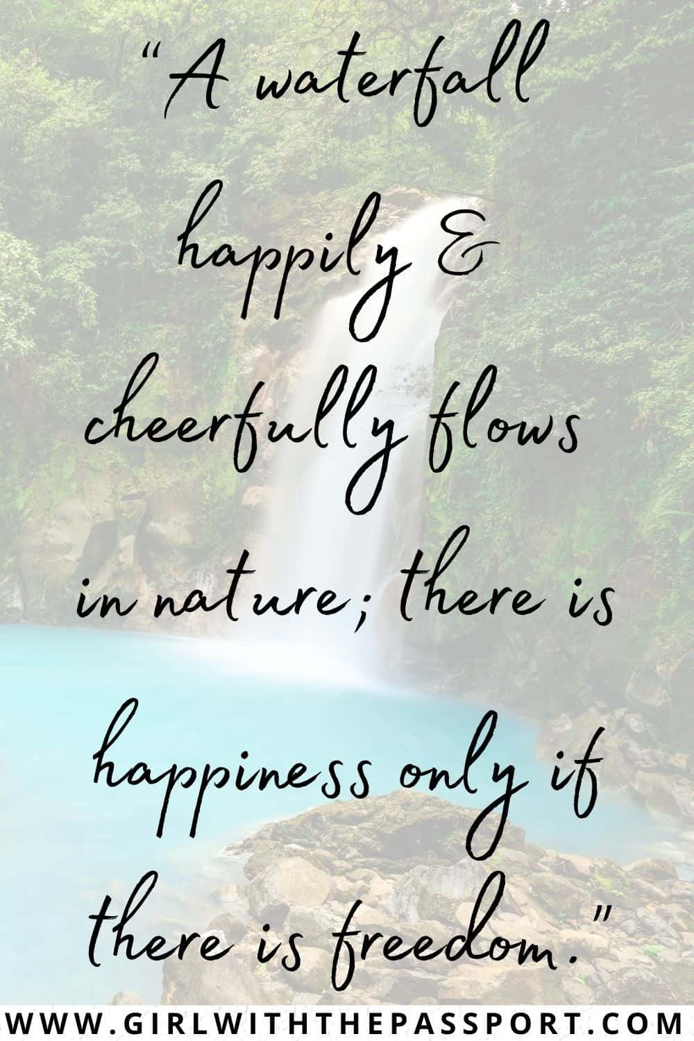 Nature Waterfall Quotes